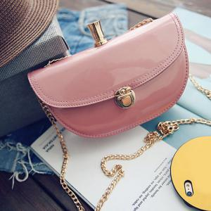 Fashion Solid Colour and Chain Design Crossbody Bag For Women -