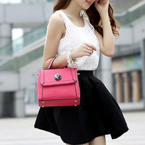 Graceful Artificial Jewel and Solid Color Design Tote Bag For Women -