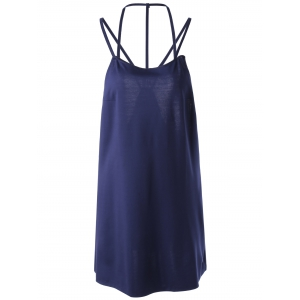Women's Chic Backless Sleeveless Pure Color Dress