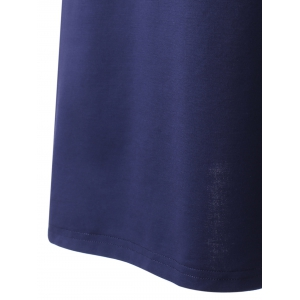 Women's Chic Backless Sleeveless Pure Color Dress - PURPLISH BLUE M