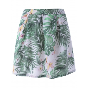 Fashionable Floral Print A- Line Skater Skirt