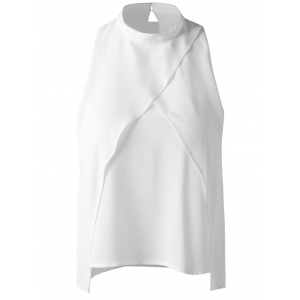 Fashionable Cut-Out Stand Collar Top For Women