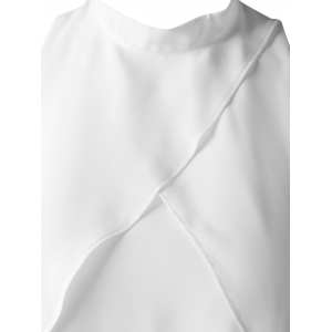 Fashionable Cut-Out Stand Collar Top For Women - NATURAL WHITE LIGHT XL