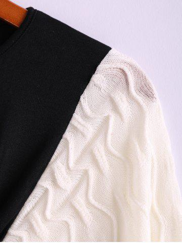 Store Plus Size Color Matching Batwing Long Sleeve Women's Sweater Dresses - ONE SIZE BLACK Mobile