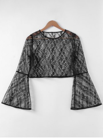 Best Fashionable Trumpet Sleeve Hollow Out Top For Women