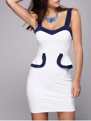Sweetheart Neck Bodycon Mini Dress - White - S