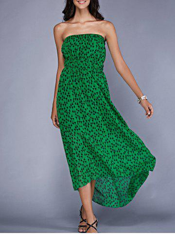 Unique Stylish Strapless Printed Maxi Dress For Women