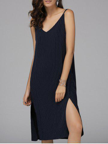Discount Alluring Spaghetti Straps Slit Dress For Women