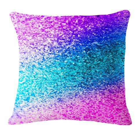 Affordable Chic Gradient Color Paillette Pattern Square Shape Flax Pillowcase (Without Pillow Inner)