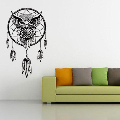 Hot Ethnic Owl Pattern Wall Sticker For Livingroom Bedroom Decoration
