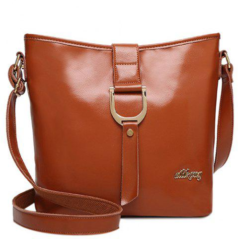 Cheap Concise Letter and Solid Color Design Crossbody Bag For Women