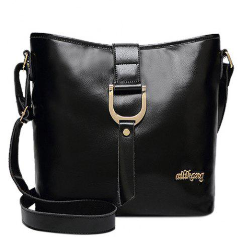 Buy Concise Letter and Solid Color Design Crossbody Bag For Women - BLACK  Mobile
