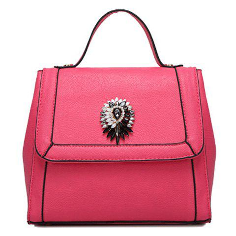 Online Graceful Artificial Jewel and Solid Color Design Tote Bag For Women