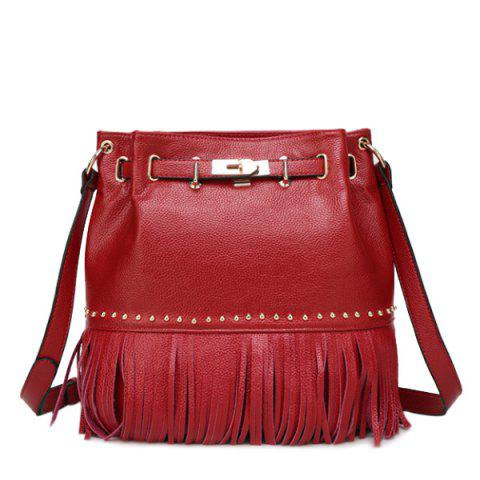 New Trendy Fringe and Metal Design Crossbody Bag For Women