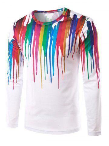 Unique 3D Colorful Splatter Paint Printed T-Shirt COLORMIX 2XL