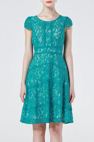 Affordable Lace Cap Sleeve A Line Dress