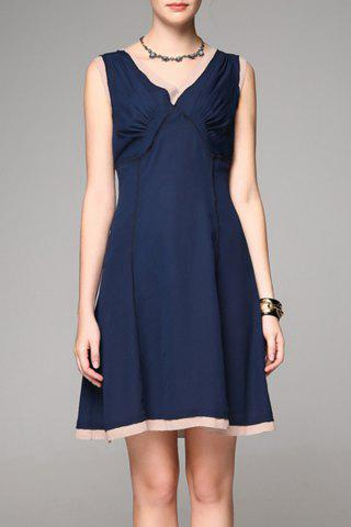 Store Back Zip Mini A Line Dress