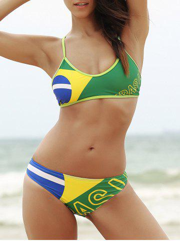 Latest Brazilian Flag Sporty Patriotic Swimwear