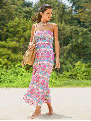 Maxi Strapless Print Beach Summer Dress