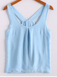 Sweet Scoop Neck Bowknot Embellished Tank Top For Women