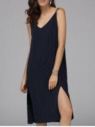 Alluring Spaghetti Straps Slit Dress For Women