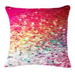 Chic Colorful Paillette Pattern Square Shape Flax Pillowcase (Without Pillow Inner) -