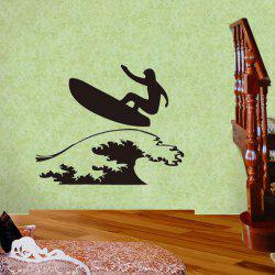 Simple Surfing Guy Pattern Sports Vinyl Decals Wall Sticker