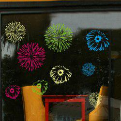 Vinyl Fireworks Pattern Wall Art Decals - COLORFUL