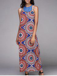 Bohemian Spaghetti Strap Tribal Printed Dress For Women