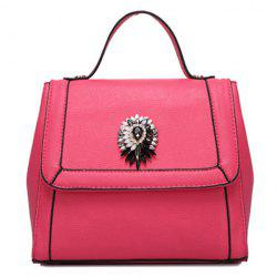 Graceful Artificial Jewel and Solid Color Design Tote Bag For Women