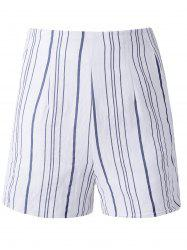 Irregular Stripe High Waist Shorts