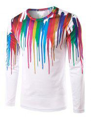 3D Colorful Paint Splatter T-shirt imprimé - Multicolore