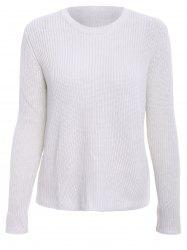 Basic Round Collar Long Sleeve Solid Color All-Match Women's Knitwear -