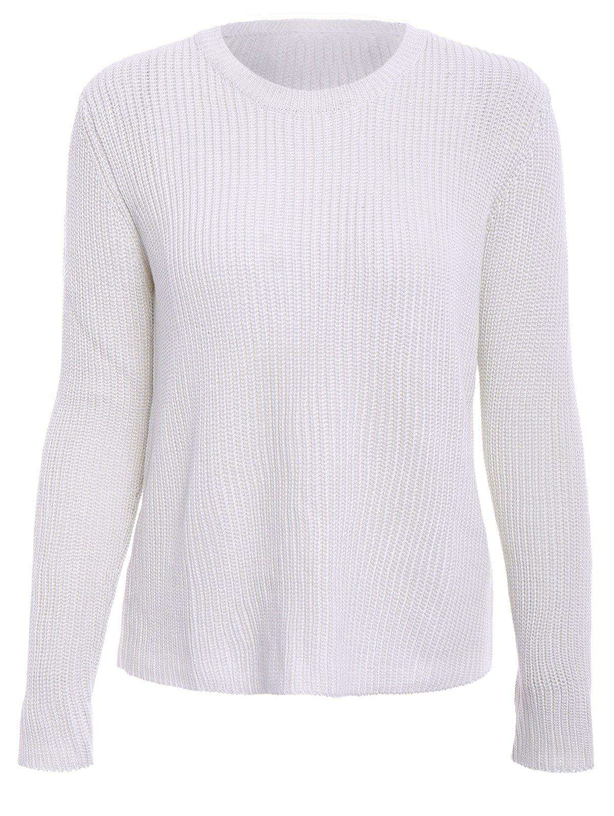 Sale Basic Round Collar Long Sleeve Solid Color All-Match Women's Knitwear