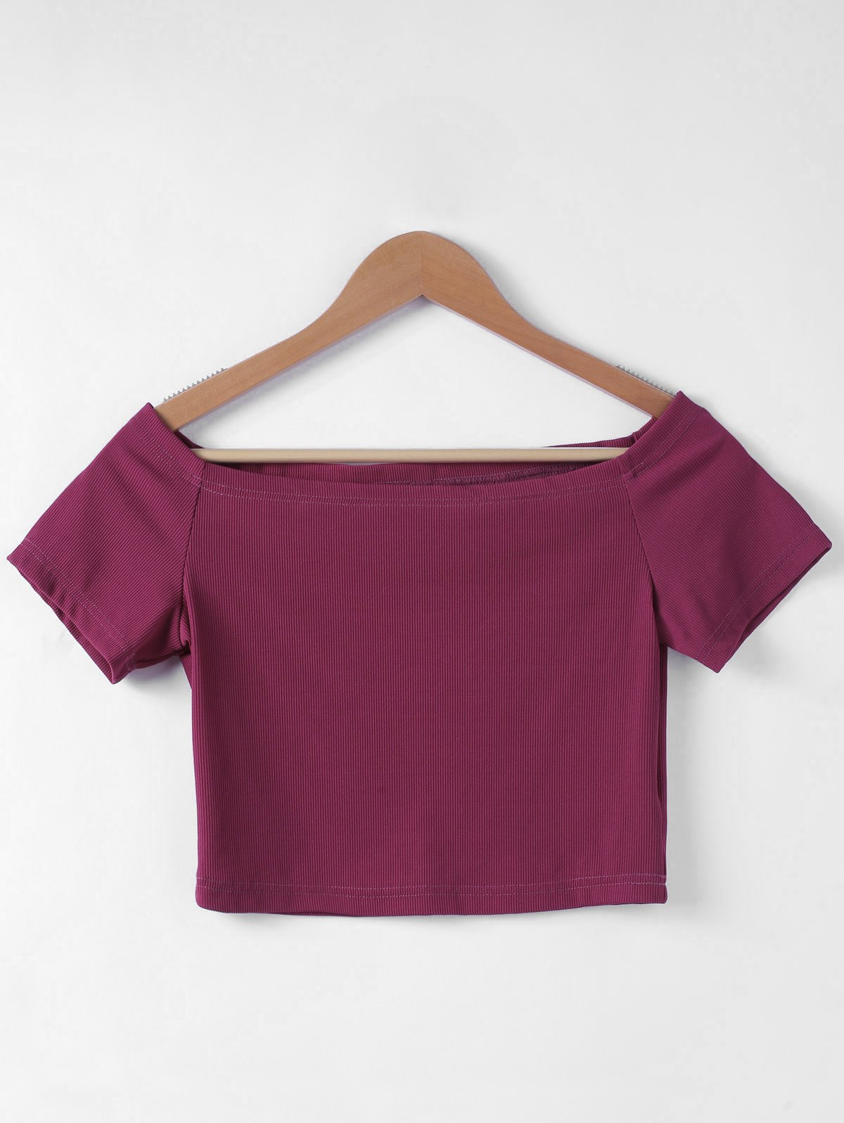 Chic Contracted Flat Shoulder Slim T-Shirt For Women