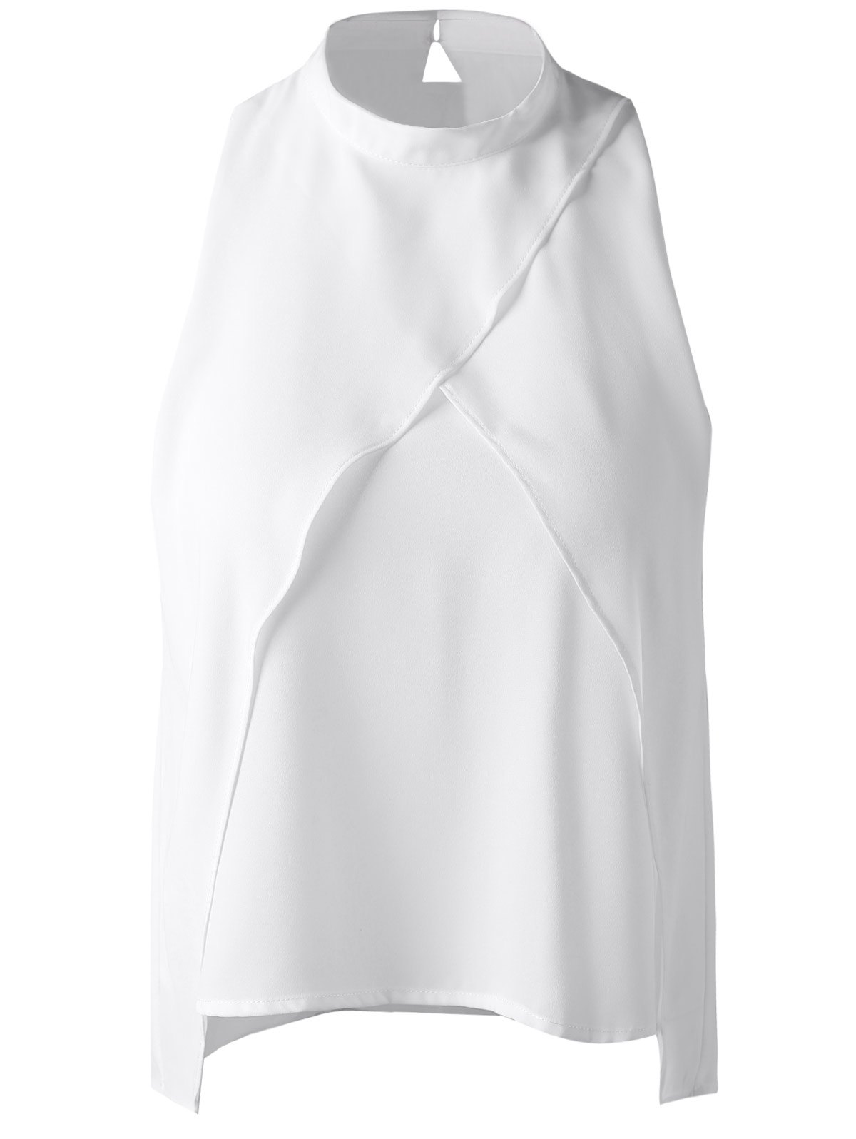 Chic Fashionable Cut-Out Stand Collar Top For Women