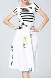 Flower Print Criss Suspender Dress -