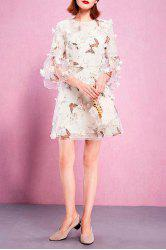 Camisole Dress and Butterfly Print Mesh Dress Twinset -