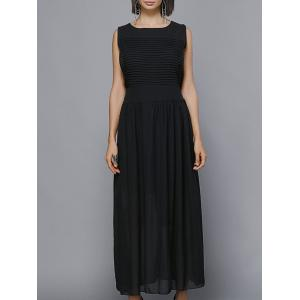 Maxi Pleated Chiffon Swing Formal Dress