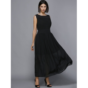 Maxi Pleated Chiffon Swing Formal Dress -