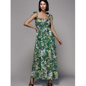 Fashionable Strappy Floral Print Dress For Women -