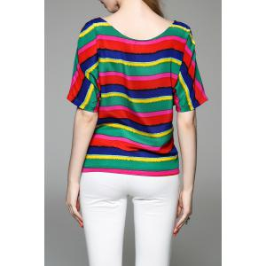 Striped Color Block T-Shirt -