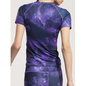 Active Elastic Starry Sky Sports Tee -