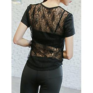 Back Lace Spliced Sports Tee -
