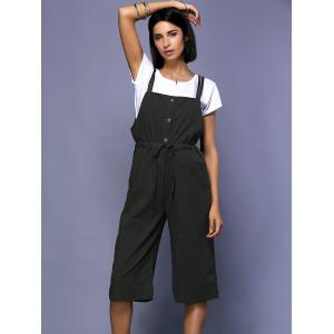 Chic Round Neck Short Sleeve White T-Shirt + High-Waisted Drawstring Overalls Women's Twinset -