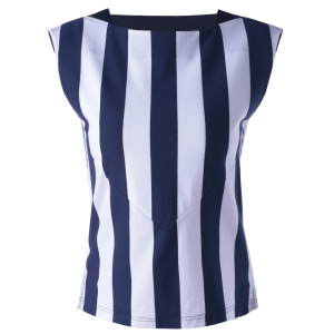 Striped Contrast Tank Top