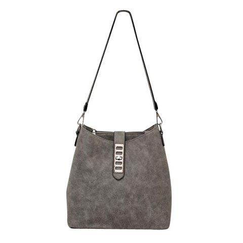 New Trendy Solid Color and PU Leather Design Shoulder Bag For Women -   Mobile
