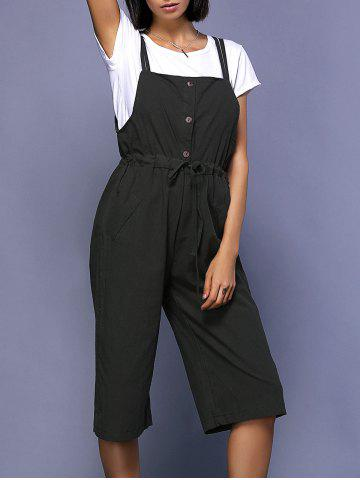 Sale Chic Round Neck Short Sleeve White T-Shirt + High-Waisted Drawstring Overalls Women's Twinset