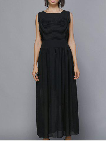 Shop Maxi Pleated Chiffon Swing Formal Dress