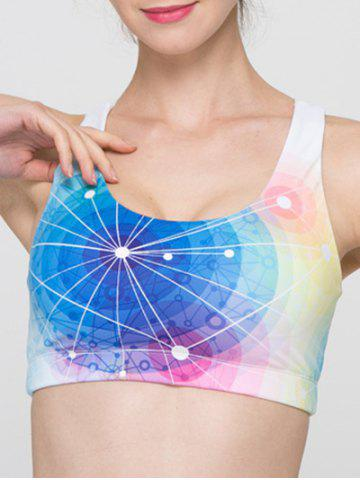 Sale Full Coverage Colorful Hollow Out Criss Sport Bra